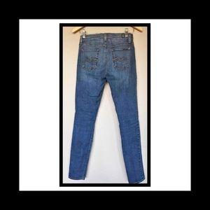 7 for All Mankind light denim jeans, skinny